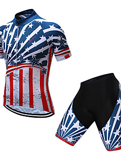 b8aa4390d TELEYI Men s Short Sleeve Cycling Jersey with Shorts - Red+Blue National  Flag Bike Clothing Suit Quick Dry Sports Coolmax® National Flag Mountain  Bike MTB ...