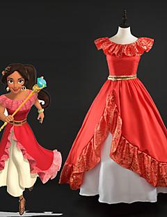 tanie Kostiumy filmowe i telewizyjne-Księżniczka Sukienka Wszystko Kostiumy z filmów Czerwony Sukienka Święta Halloween Nowy Rok Jedwab Satyna