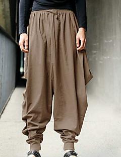economico Pantaloni da uomo-Per uomo Moda città Taglie forti Largo Pantaloni della tuta / Cargo Pants Pantaloni - Tinta unita Nero