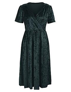 baratos Vestidos de Festa-Mulheres Bainha Vestido - Estampado Altura dos Joelhos