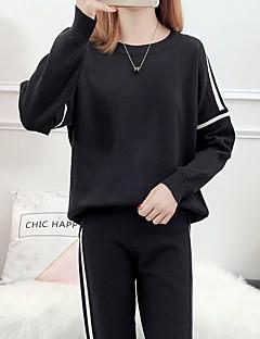 tanie Swetry damskie-Damskie Codzienny Podstawowy Solidne kolory Długi rękaw Regularny Sweter rozpinany Czarny Jeden rozmiar
