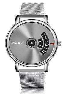 voordelige Digitale horloges-Heren Armbandhorloge Kwarts Zilver Kalender Vrijetijdshorloge Analoog-Digitaal Modieus - Zilver / Grijs Zilverachtige / White