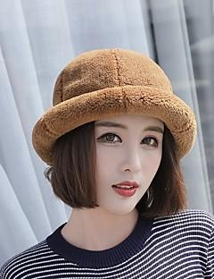 billige Hatter til damer-Dame Grunnleggende Beanie Hatt / Beret / Skilue Ensfarget