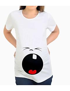 tanie Topy-T-shirt Damskie Podstawowy Solidne kolory / Geometric Shape