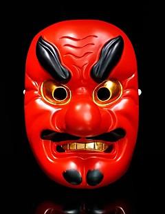 baratos Máscaras-Máscara de Hannya Omen japonesa Terror Vermelho / Dourado Resina Festa Acessórios para Cosplay Natal / Carnaval / Baile de Máscaras Fantasias