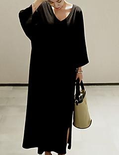 baratos Vestidos-Mulheres Básico Bainha Vestido - Fenda, Sólido Longo
