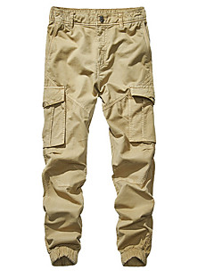 cheap Pants-Men's Basic Plus Size Chinos / Cargo Pants - Solid Colored Gray