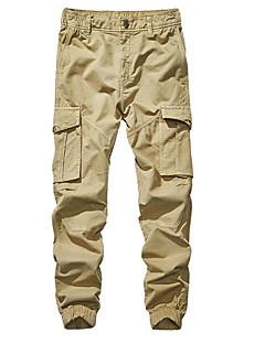 billige Herrers Mode Beklædning-Herre Basale Plusstørrelser Chinos / Lastbukser Bukser Ensfarvet