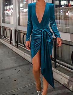cheap Women's Dresses-Women's Party / Birthday Basic / Street chic Sheath Dress - Solid Colored Spring Green Black Red L XL XXL