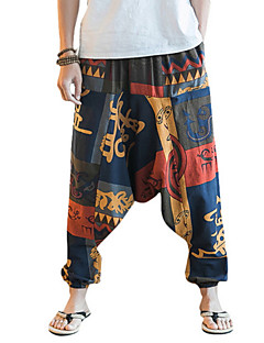 billige Herrebukser og -shorts-Herre Gatemote Chinos Bukser Geometrisk