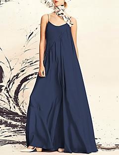 Χαμηλού Κόστους Γυναικεία Φορέματα-Γυναικεία Βαμβάκι Swing Φόρεμα Μακρύ  Τιράντες fef04ae043a