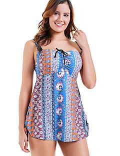 1608e89ac6 Women s Plus Size Strap Navy Blue Light Blue Skirt One-piece Swimwear -  Geometric XXXL XXXXL XXXXXL Navy Blue   Sexy
