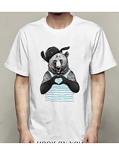 cheap Men's Tees & Tank Tops-Men's Slim T-shirt - Geometric Round Neck / Short Sleeve