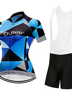 5b9dfda54 FirtySnow Women s Short Sleeve Cycling Jersey with Bib Shorts - White Black Argyle  Bike Clothing Suit Breathable Quick Dry Sports Polyester Argyle Mountain ...