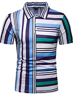 8fe96f625a8f9 Men s EU   US Size Slim Polo - Geometric Shirt Collar   Short Sleeve