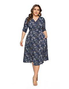 921a8c47f3875 Women s Boho Street chic Chiffon Dress Print Blue Fuchsia XXXXL XXXXXL  XXXXXXL