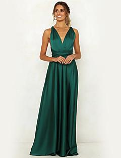 Χαμηλού Κόστους Γυναικεία Φορέματα-Γυναικεία Κομψό Θήκη Swing Φόρεμα -  Μονόχρωμο Μακρύ 0b9d47dcfcc
