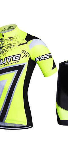 b10b84df82a6 Fastcute Per uomo Manica corta Maglia con pantaloncini da ciclismo Rosso  Verde Blu Geometrico Taglie forti Bicicletta Pantaloncini / Cosciali  Pantalone ...