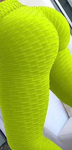 abordables -Femme Jacquard Pantalon de yoga Des sports Mode Coton Collants Leggings Zumba Course / Running Fitness Tenues de Sport Poids Léger Push Up Contrôle du Ventre Haute élasticité Slim