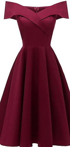 זול -עד הברך שמלה גזרת A רזה בגדי ריקוד נשים