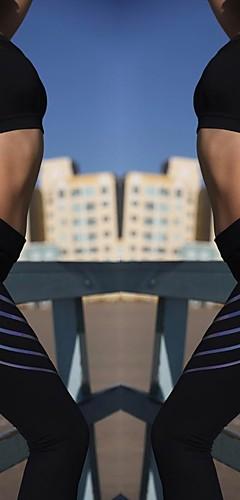 abordables -Femme Pantalon de yoga Des sports Couleur unie Collants Leggings Course / Running Fitness Tenues de Sport Evacuation de l'humidité Elastique Mince