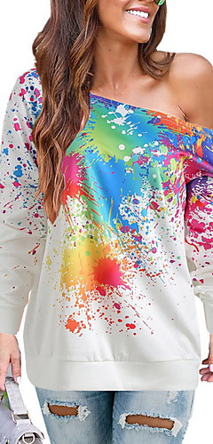 povoljno -Žene Ležerne prilike Sportska majica Color block
