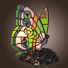 billige Tiffany Lamper-Tiffany Bordlampe Til Metall 110-120V / 220-240V