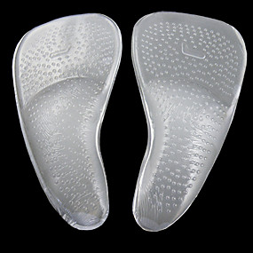 cheap Insoles & Inserts-2pcs Silicon Insole & Inserts Women's All Seasons Casual White