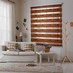 cheap Blinds & Shades-Roller Shade Fabric 100% Polyester Kids Blackout Bottom Up Room Darkening Mount Inside Jacquard Fabric