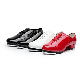 povoljno Klasična kolekcija plesnih cipela-Žene Lakirana koža Cipele za step / Standardni Vezanje Potplat u dva dijela Niska potpetica Nemoguće personalizirati Crna / Bijela / Crvena / EU40