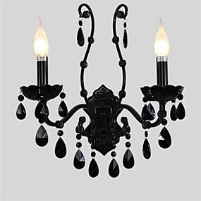cheap Lighting Fixtures-Crystal/Mini Style Wall Sconces/Candle Wall Lights , Modern/Contemporary E12/E14 Metal
