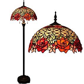abordables Lampe Tiffany-Tiffany Protection des Yeux Lampadaire Pour Métal 110-120V