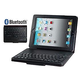 billige iPad-tastaturer-faux lær flip tilfellet med innebygd bluetooth tastatur for ipad 2/3/4 (assorterte farger)
