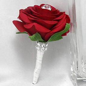 "baratos Flores-Bouquets de Noiva Alfinetes de Lapela Casamento Festa / Noite Cetim 3.94""(Aprox.10cm)"