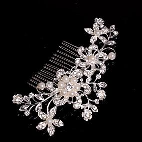 abordables Bijoux de Mariage-Alliage Peignes / Coiffure avec Fleur 1pc Mariage / Occasion spéciale / Décontracté Casque