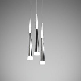 povoljno Poboljšanje uvjeta stanovanja-Ecolight™ 3-Light Privjesak Svjetla Ambient Light - LED Meleg fehér / Bijela, Bulb Included / 10-15㎡ / Integrirano LED svjetlo