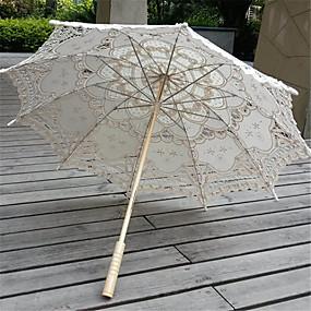 """levne Deštníky-rovná rukojeť Krajka Svatební Denní Plesová maškaráda Plážové Deštník Deštníky 78 cm (cca 30,7"""")"""