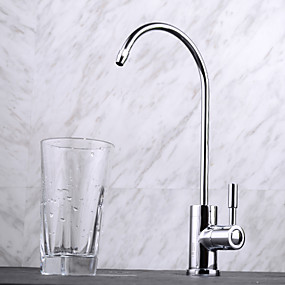 cheap Kitchen Faucets-Kitchen faucet - One Hole Chrome Tall / ­High Arc Deck Mounted Contemporary / Single Handle One Hole