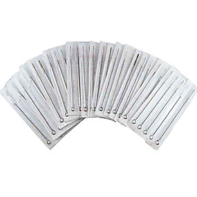 50pcs 9RS Tattoo Steel Needles Premade Needle 9 Round Shader Size
