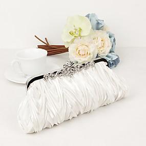 お買い得  靴&バッグ & ジュエリー & 腕時計-女性用バッグサテン/メタルイブニングバッグクリスタル/ラインストーンパープル/ブラウン/レッド/ウェディングバッグ/ウェディングバッグ