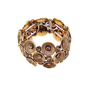 baratos Pulseiras Vintage-Mulheres Pulseiras com Miçangas Prata Chapeada Pulseira de jóias Prata / Dourado Para Festa Diário Casual / Chapeado Dourado