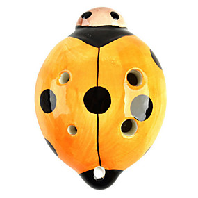 povoljno Puhaći instrumenti-bubamara stil 6 rupa c-ključ okarina glazbeni instrument - narančasta