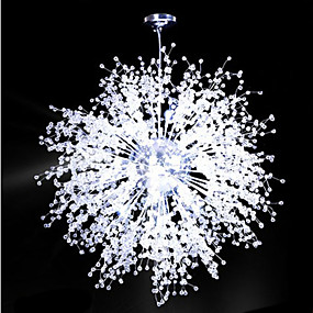 halpa Kattovalaisimet ja tuulettimet-8-Light Sputnik Kattokruunu Alavalot Galvanoitu Metalli LED 110-120V Lämmin valkoinen / Valkoinen LED-valonlähde mukana / Integroitu LED