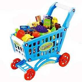 billige Kostyme og utkledning-Lekebiler Liksomspill Leketraller Grønnsak Frukt Handlevogn simulering Plast Barne Leketøy Gave