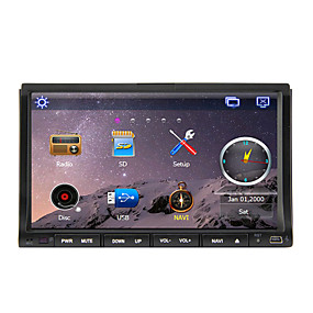 cheap -70%-7 inch 2 DIN Windows CE 6.0 / Windows CE In-Dash Car DVD Player Built-in Bluetooth / GPS / iPod for Support / RDS / Subwoofer Output