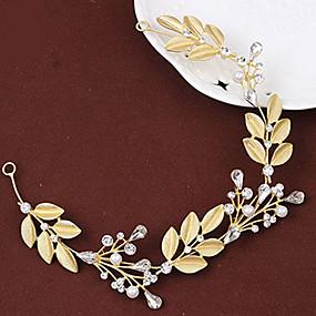 baratos Clássico-Cristal / Liga Headbands / Decoração de Cabelo / Grinaldas com Floral 1pç Casamento / Ocasião Especial Capacete