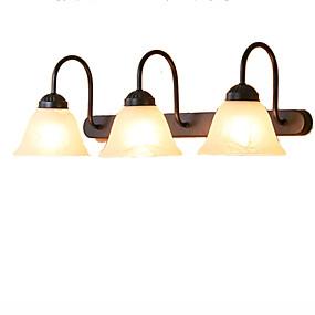billige Vanity-lamper-Rustikk / Hytte Baderomsbelysning Metall Vegglampe IP41 110-120V / 220-240V 60W