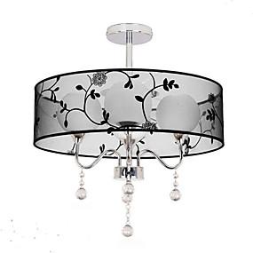 tanie Mocowanie przysufitowe-Lampy widzące Oświetlenie od dołu (uplight) Galwanizowany Metal Tkanina Styl MIni 110-120V / 220-240V Ciepła biel Nie zawiera żarówek / E26 / E27