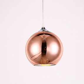 cheap 80% OFF-Globe Pendant Light Ambient Light Electroplated Metal Glass Mini Style 110-120V / 220-240V / Chain / Cord Adjustable / E26 / E27
