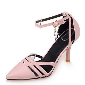voordelige Wijdere maten schoenen-Dames Kunstleer Lente / Zomer D'Orsay & Tweedelig Naaldhak Zwart / Beige / Roze / Formeel